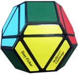 Meffert's 14 face Skewb Hex - Black Body