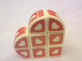 Valentine's Single Heart 3x3x1 White Cube