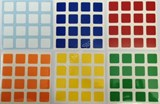 4x4x4 Standard Stickers set for 64mm x 64mm cube