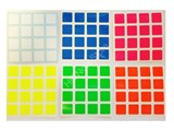 4x4x4 Bright Set (High Quality PVC Stickers)