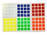 4x4x4 Half-Bright Set (High Quality PVC Stickers)