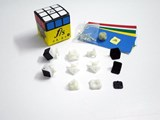 Fangshi(Funs) Shuang Ren cube Original Plastic Color with Black Caps DIY Kit for Speed-cubing (54.6 X 54.6mm)