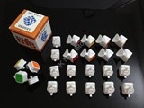 mf8 Legend II White Body with tiles DIY Kit for Speed-cubing