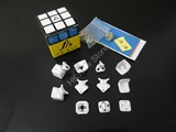 Fangshi(Funs) Shuang Ren cube V.2 White Body DIY Kit for Speed-cubing (57 X 57mm)