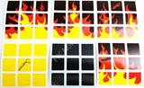 Yellow Flame Stickers Set