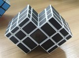 Mirror Double cube white body (Black Stickers)