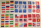 National Flag Stickers Set