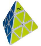 White Pyraminx II Fluorescent Labels