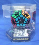 Holey Megaminx w/ 12 Color Label Black Body in Hexagon Box