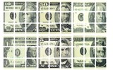 3x3x3 US Dollar Stickers Set