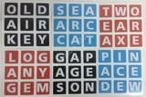 English Crossword Cube Stickers Set