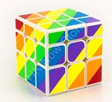 Moyu YJ Rainbow Unequal 3x3x3 Cube White Body