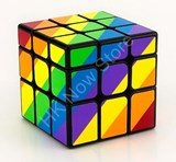 Moyu YJ Rainbow Unequal 3x3x3 Cube Black Body