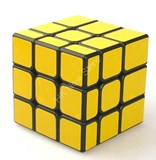 Unequal 3x3x3 Cube Black Body in Yellow Stickers