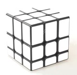 Unequal 3x3x3 Cube Black Body in White Stickers