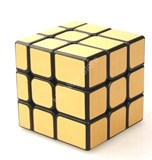Unequal 3x3x3 Cube Black Body in Gold Stickers