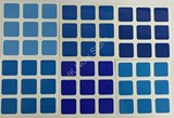 3x3x3 All Blue Gradient Stickers Set