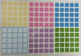 5x5x5 Light Color Stickers Set