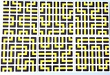 5x5x5 PVC Black-Base Maze Stickers Set
