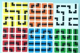 4x4x4 PVC 6 color Maze Stickers Set