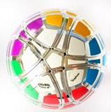 Traiphum Megaminx Ball Metallized Silver with 12 Color stickers (Limited Edition)