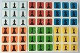 3x3 Chess Stickers set