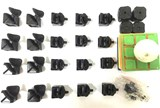 mf8 Legend II Black Body with tiles DIY Kit in ball core for Speed-cubing