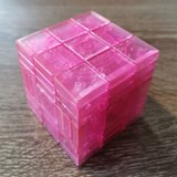 Full Function 3x3x7 RoadBlock Cube Clear Pink