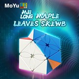 Moyu MFJS Maple Leaves Skewb Cube Stickerless