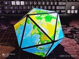 Earth Icosahedron Puzzle Black Body (Lee Mod)