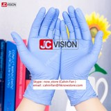 Disposable Nitrile Gloves (x100 pc, size L, 1 box)