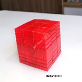 Full Function 3x3x10 II Clear Red Cube