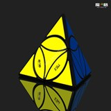 Qiyi Disc Pyraminx Black Body