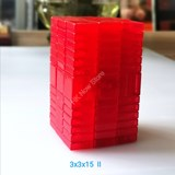 Full Function 3x3x15 II Clear Red Cube