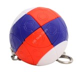 Russian-style Spherical Ball Keychain (3-color)