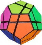 Skewb Ultimate black body with 6 color Fluorescent stickers